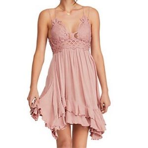 Free People Adella Slip Dress Rose FINAL PRICE💲